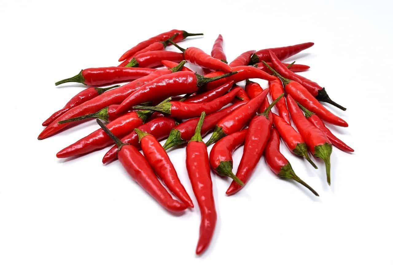 Chili auf einem Haufen