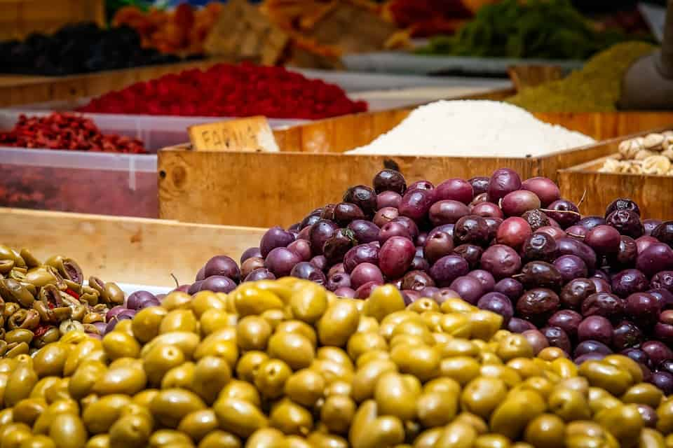 Viele leckere Oliven