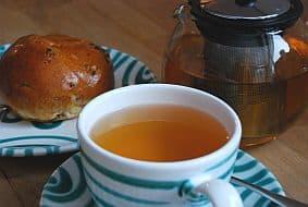 Eine Tasse heißer Tee