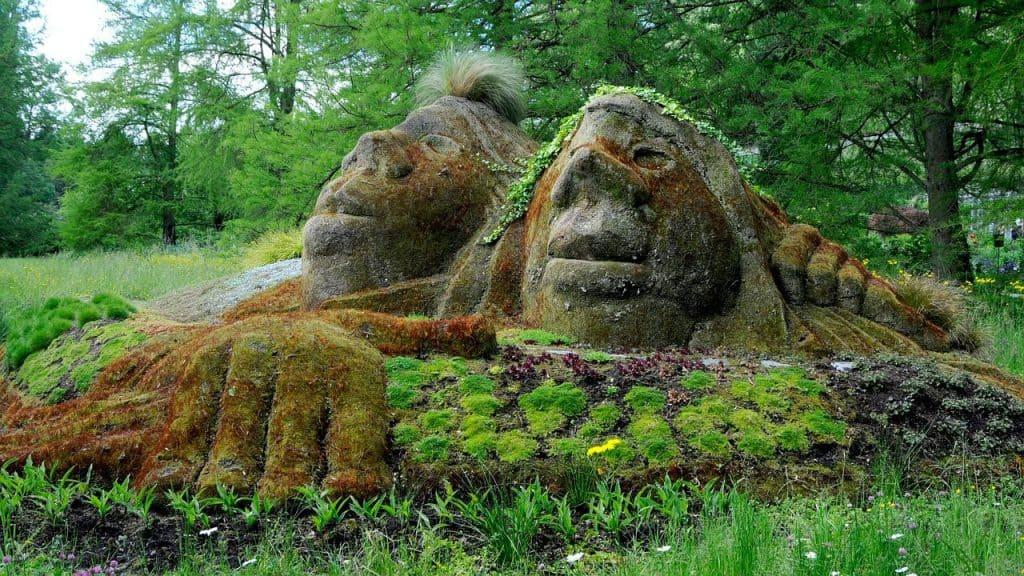 Skulptur auf der Insel Mainau