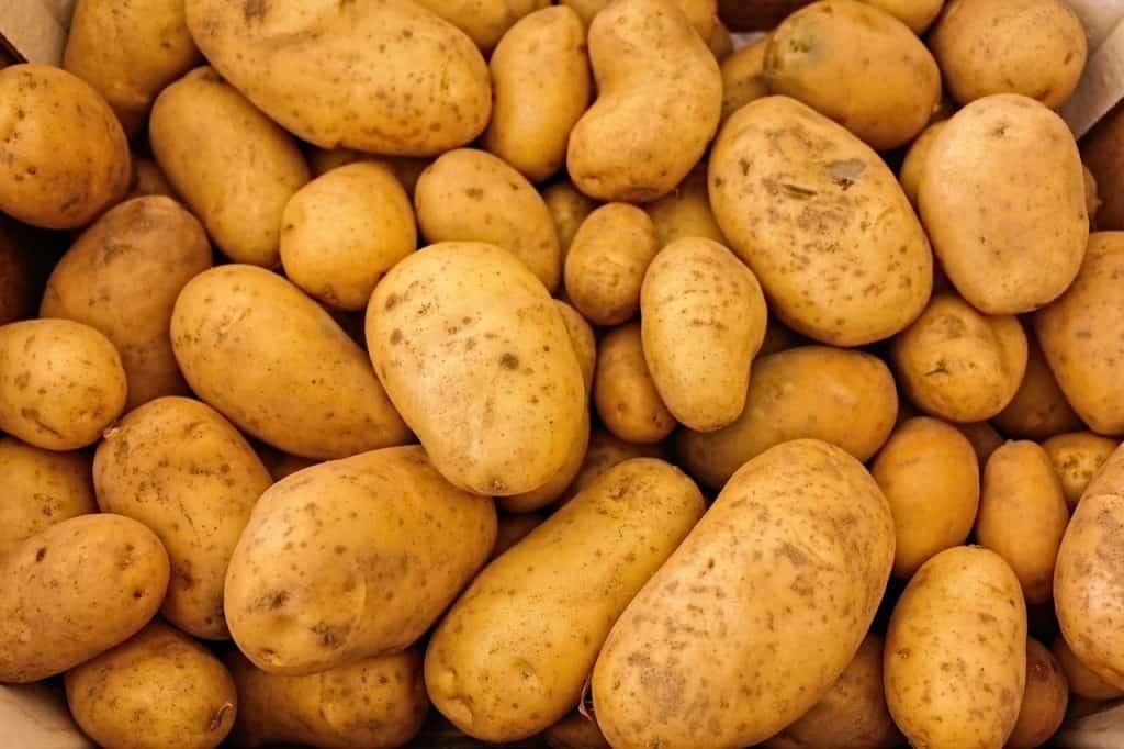 Kartoffeln auf einem Haufen