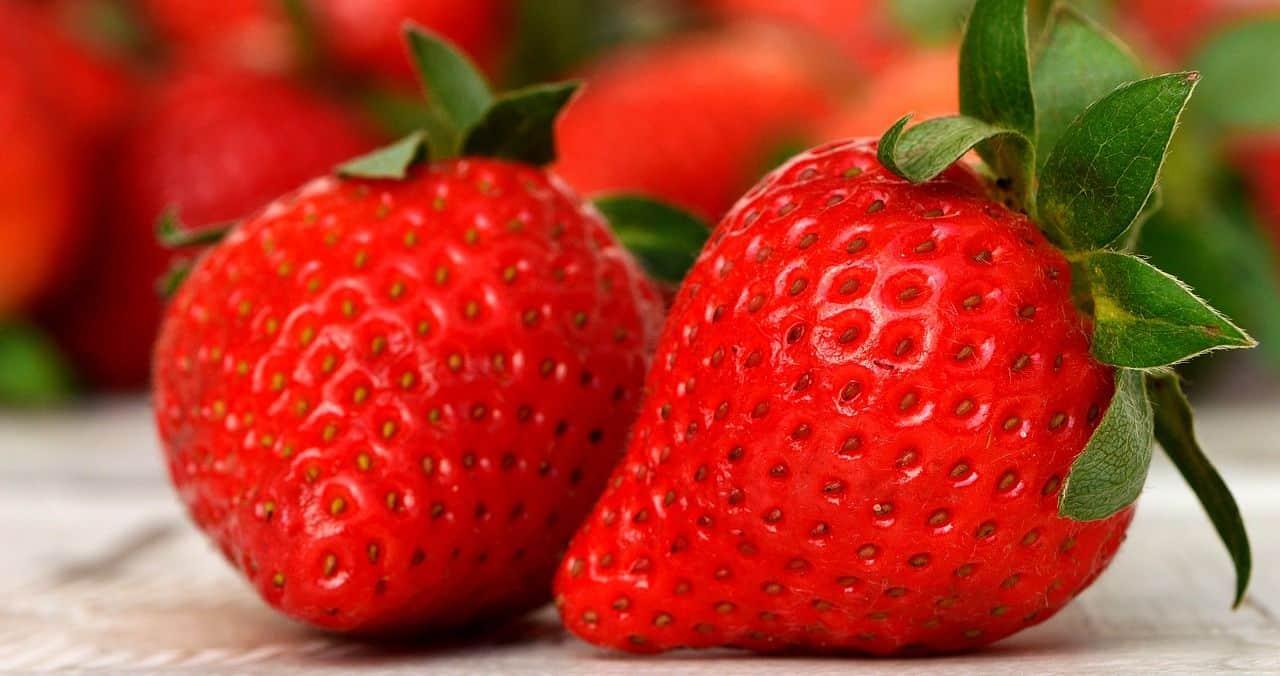 Erdbeeren in Nahaufnahme