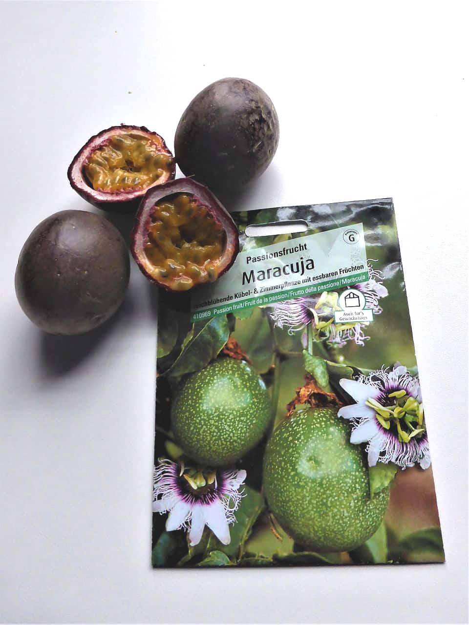 Früchte und Samen der Maracuja