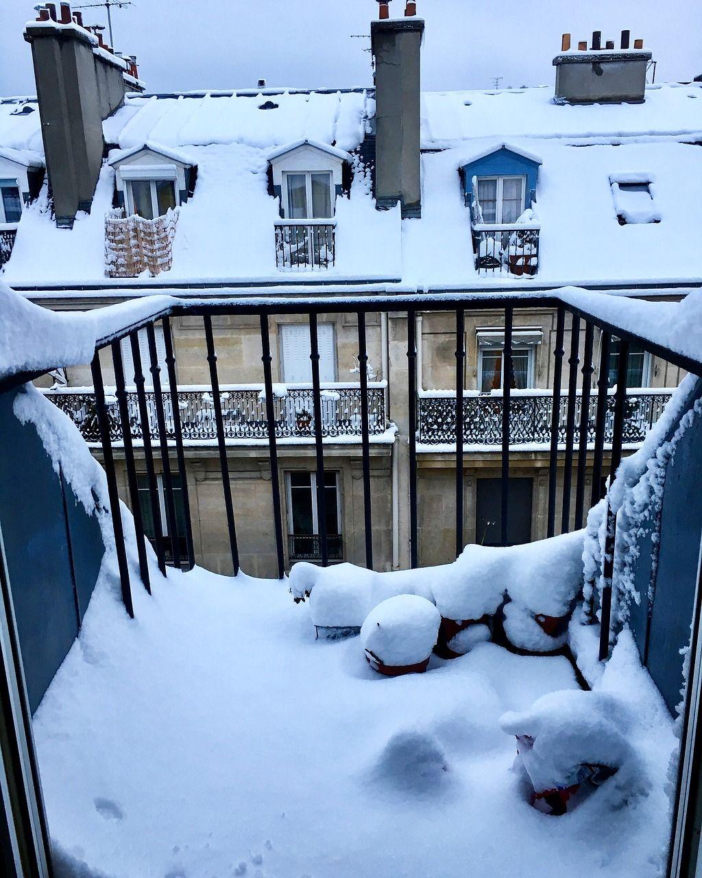 Den Balkon winterfest machen